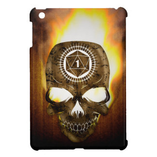 d20 Critical Fail Death Skull iPad Mini Cover