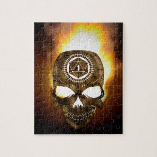d20 Critical Fail Death Skull Jigsaw Puzzle
