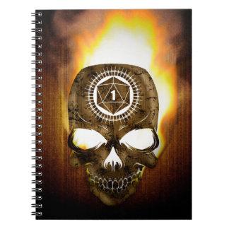 d20 Critical Fail Death Skull Notebook