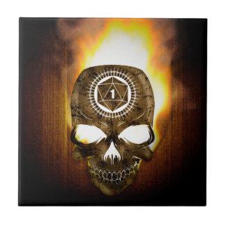d20 Critical Fail Death Skull Tile