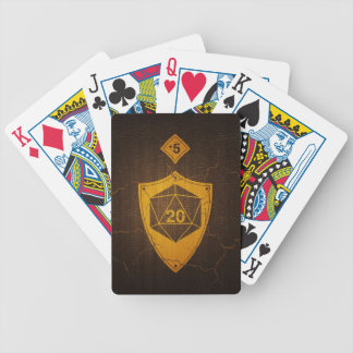 d20 Critical Save +5 Faux Leather Bicycle Playing Cards