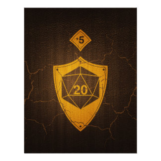 d20 Critical Save +5 Faux Leather Letterhead