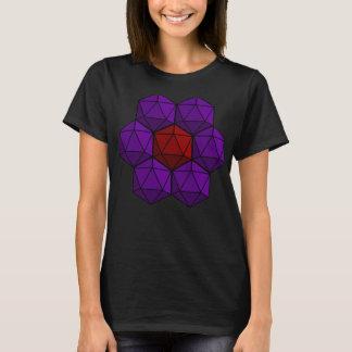 D20 Dice Flower T-Shirt