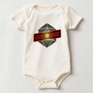 D20 Star Dungeon Master Baby Bodysuit
