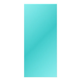 D2 Bi-Linear Gradient - Light Cyan and Turquoise Full Color Rack Card