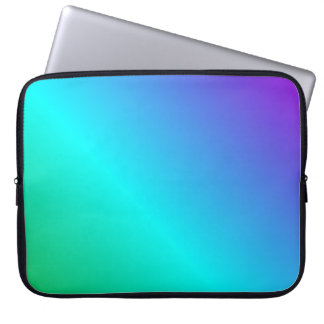 D2 Linear Gradient - Violet, Cyan, Green Laptop Computer Sleeves