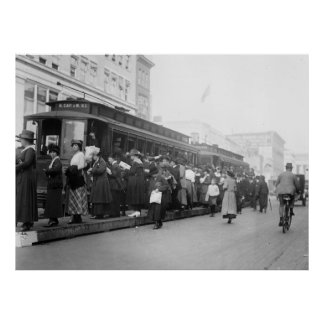 D.C. Streetcar Scene, 1920s Poster