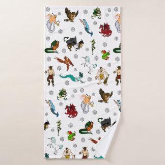 D&D Dice and Monsters Bath Towel Set