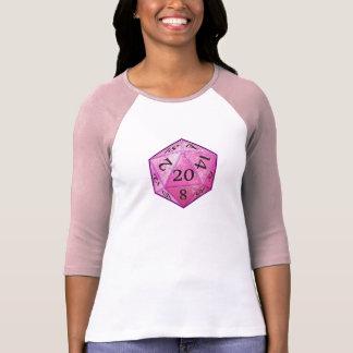 D&D Pink d20 T-Shirt