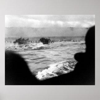 D-DAY Omaha Beach First Wave France World War II Poster