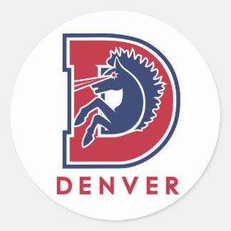 D Denver Logo Classic Round Sticker