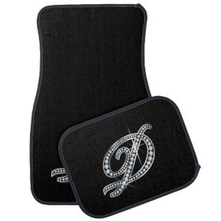 "D Faux-""Diamond Bling"" Car Mat"