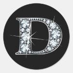 """D"" Faux-""Diamond Bling"" Sticker"