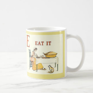"D for ""Dealt it"", E for ""Eat it"" alphabet letter c Coffee Mug"