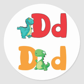 D For Dinosaur Stickers