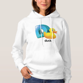D For Duck Womens Hoodie