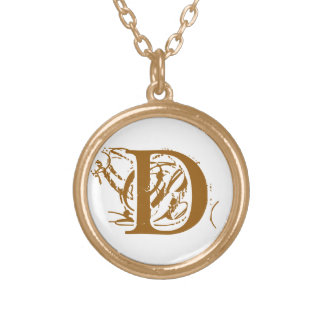D gold initial coin - D personalized jewelry gifts