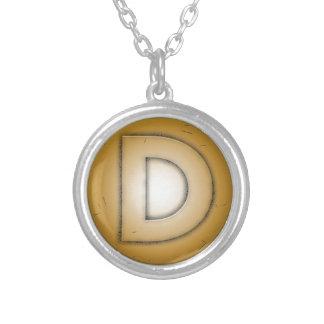 D initial letter pendants