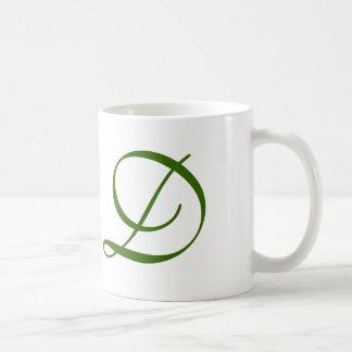 D initial mug