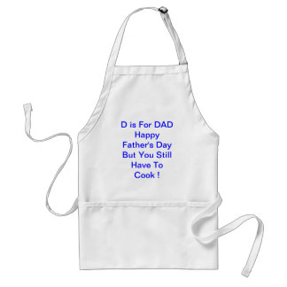 D is For DAD Father's Day New Father Standard Apron