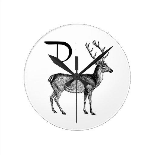 D is for Deer Wallclock
