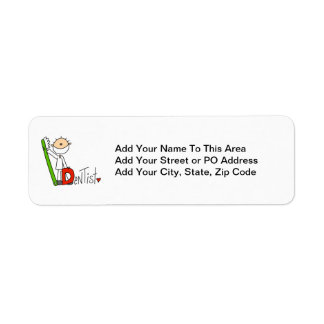 D is for Dentist Return Address Label