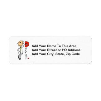 D is for Doctor Return Address Label