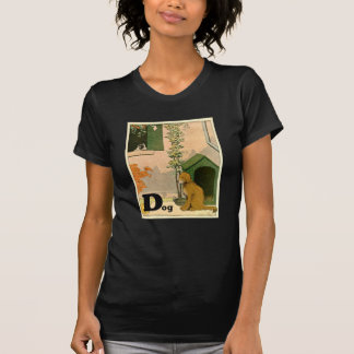 D is for Dog - Golden Retriever and Terrier T-Shirt