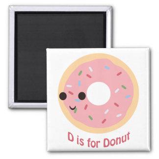 D is for Donut Fridge Magnet