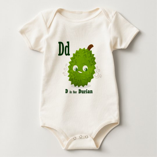 D is for Durian Baby Bodysuit