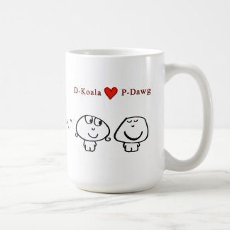 """D-Koala heart P-Dawg"" Coffee Mug"