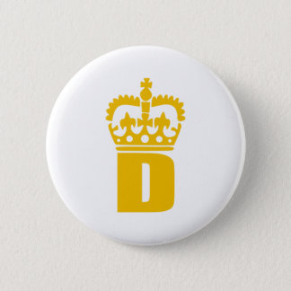 D - Letter - Name 2 Inch Round Button