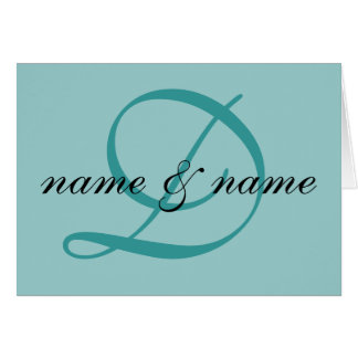 """""""D"""" monogram note card - personalize first names"""