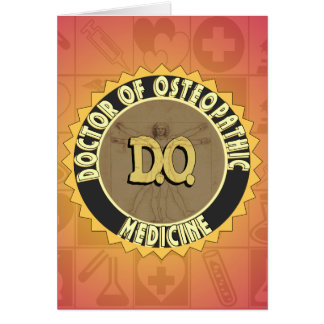 D.O. BADGE vitruvian Man DOCTOR OSTEOPATHY Card