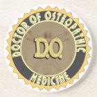 D.O. BADGE vitruvian Man DOCTOR OSTEOPATHY Coaster