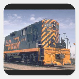 D&RGW standard gauge EMD GP-9_Trains Square Sticker