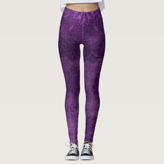 D violet leggings