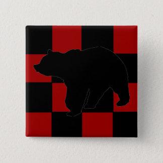 Da Bear 2 Inch Square Button