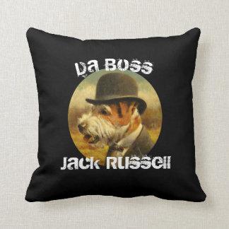 Da Boss Jack Russell Throw Cushion
