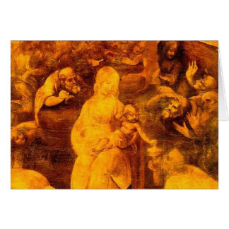 Da Vinci - Adoration of the Magi Card