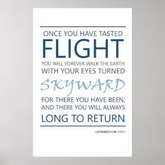 Da Vinci Flight Quote Poster