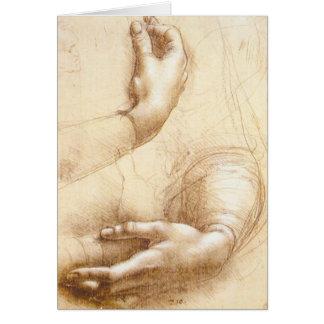 Da Vinci Hands Greeting Card