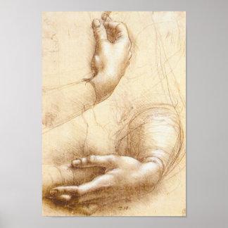 Da Vinci Hands Poster