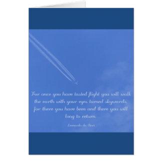 Da Vinci inspirational flight quote Card