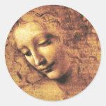 Da Vinci La Scapigliata Stickers