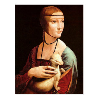 Da Vinci: Lady With The Ermine Postcard