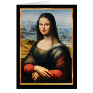 Da Vinci Mona Lisa Grumpy Face Card