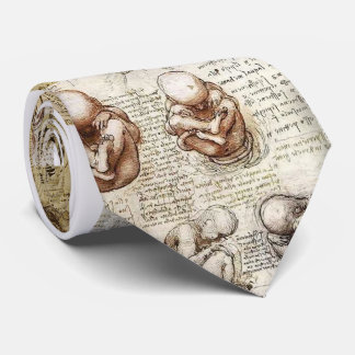 Da Vinci Notebook Fetus Drawings Tie
