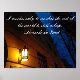 Da Vinci Quote Poster