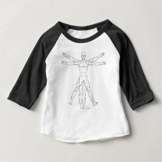 Da Vinci Style Vitruvian Man Baby T-Shirt